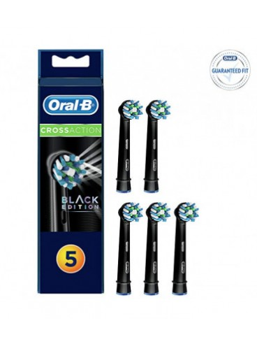 Oral-b Refill Cross Action Black Edition Testine di Ricambio 5 pezzi
