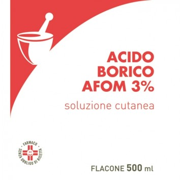 ACIDO BORICO AFOM*3% 500ML