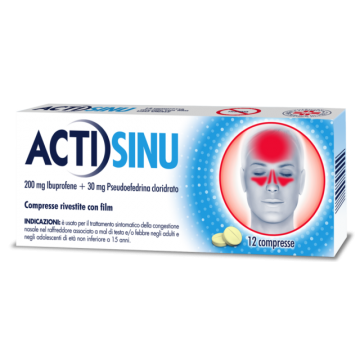 ACTISINU*12CPR 200MG+30MG