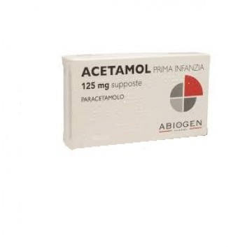 ACETAMOL 10 SUPP 125 MG